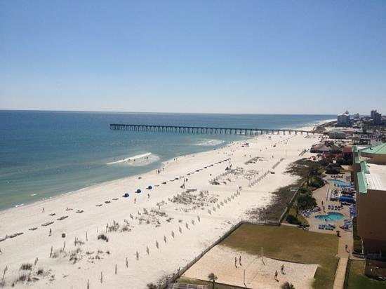 Hilton Pensacola Beach: the view from our 10th floor balcony