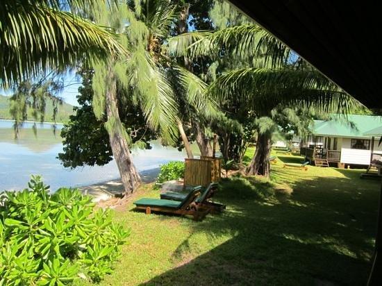 Iles des Palmes: udsigten fra terrassen