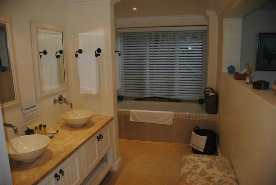 Amanzi Island Lodge : Bathroom leading to walk in shower
