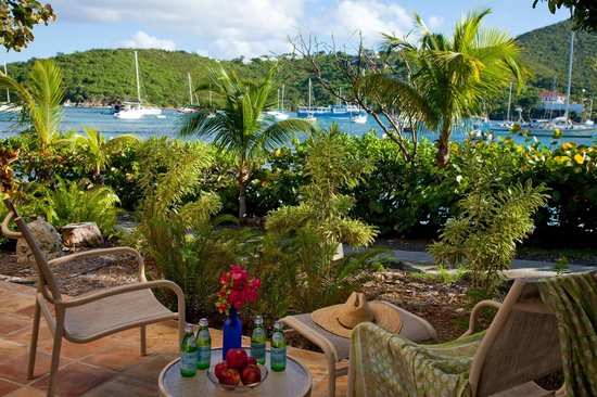 Gallows Point Resort: Patio of a Harbor Lower Room