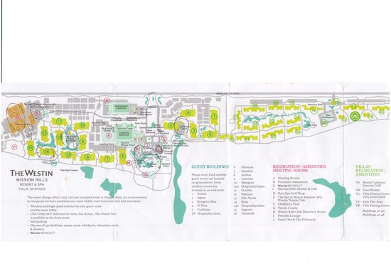 Resort Map Picture of The Westin Mission Hills Golf Resort Spa