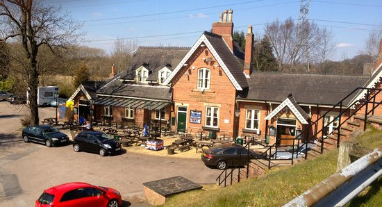 The Cheshire Line Tavern: Showing outside seating
