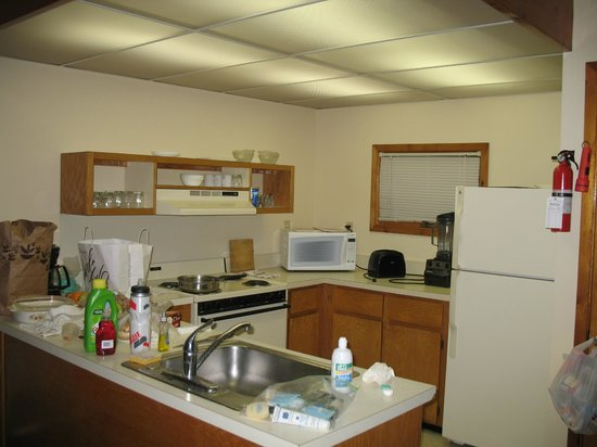 Shawnee River Village 2: big enough kitchen with ample appliances.  vitamixer is mine however.  lol!