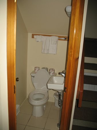 Shawnee River Village 2: small bathroom on first floor right as you enter unit.