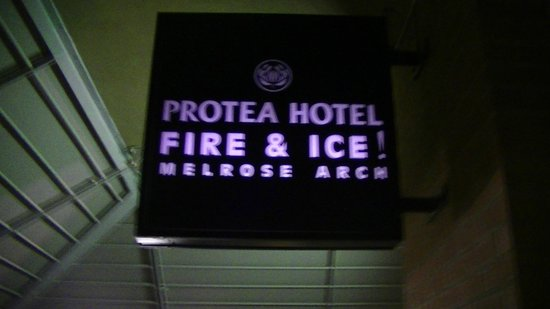 Protea Hotel Fire & Ice Johannesburg Melrose Arch: Sorry this is the only photo I have. I only have videos of the room.