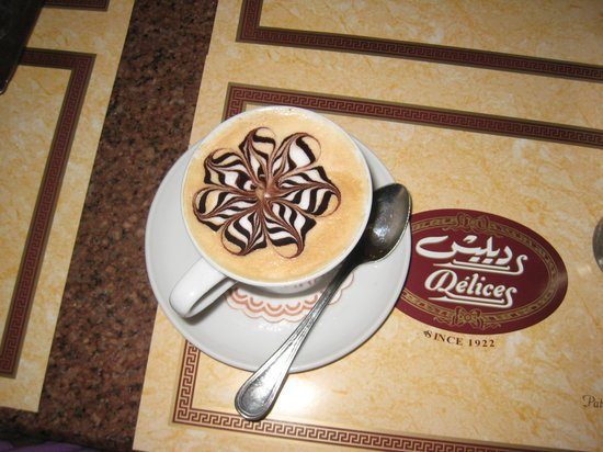 Delices: The cappuchino is a work of art