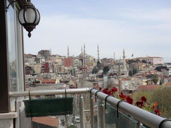 Ottoman Hotel Park: Blick auf Blaue Moschee von Terasse