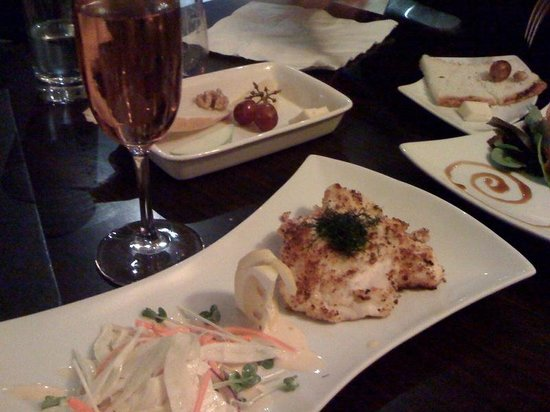 The Cave: Chandon Rose Sparkling Wine and Chicken Schnitzel 'Small Plate'