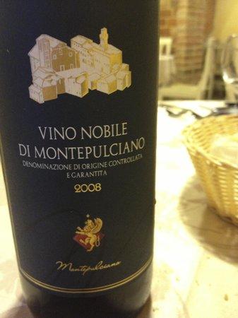 Relais La Leopolda: Il vino (molto buono)