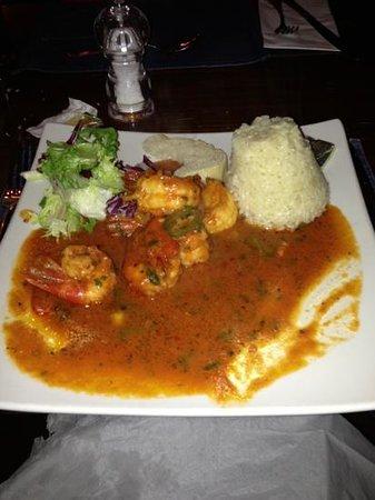 Tavistock Italia Gastro Pub at The Board Inn: king prawn main course