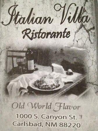 Italian Villa Restaurant Carlsbad Nm