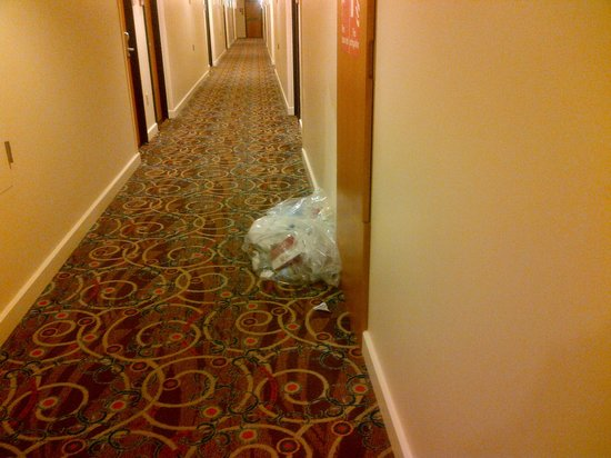 Hilton Trinidad and Conference Centre: Bagged trash 1