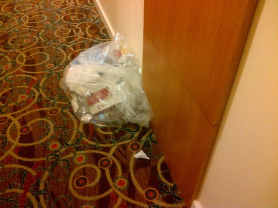 Hilton Trinidad and Conference Centre: Bagged trash 3