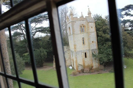Ettington Park Hotel: View from hotel of old church onsite