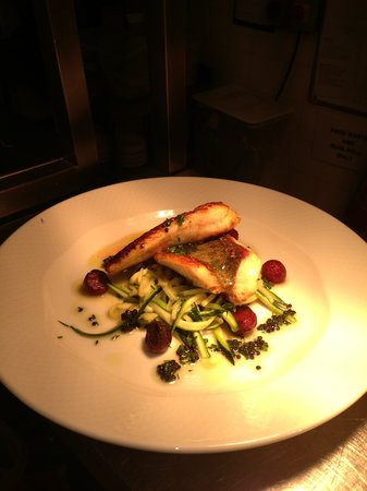 West End Bistro & Bar: Seared Turbot with Courgette & Mint Spaghetti