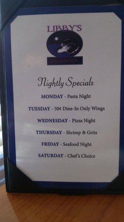 Libby's of Lexington: Specials