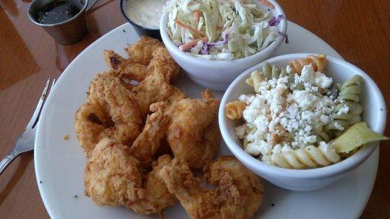 Libby's of Lexington: Folly Shrimp w/ cole slaw and pasta salad
