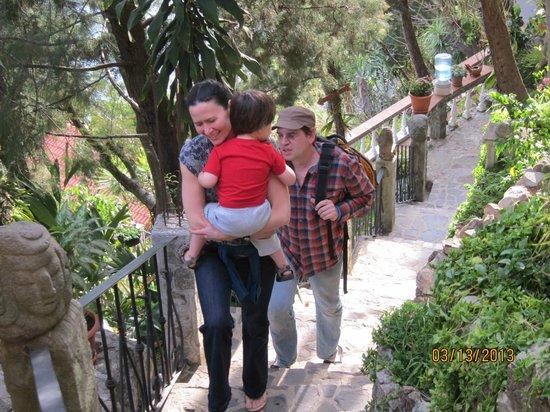 La Casa del Mundo Hotel: Climbing the Many Steps at Casa Del Mundo to Room 12