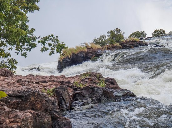 Victoria Falls (Mosi-oa-Tunya) National Park: On the banks of the Zambezi leading into the falls
