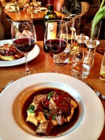 The Hare and Hounds: Braised Lamb Shank on polenta