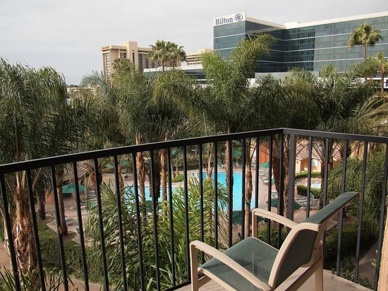 Sheraton Park Hotel at the Anaheim Resort: South facing room view..