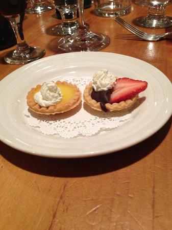 "Damariscotta River Grill: ""duo"" dessert"