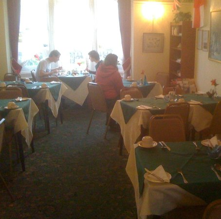 Ainsley House Hotel: Dining room, carpet looks better here than in real life