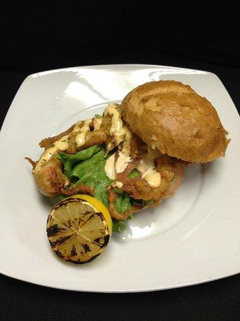 Broken Clock Gastropub: A BCG customer favorite - the softshell crab sandwich.