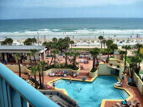 Hilton Daytona Beach Oceanfront Resort Pool View From Room