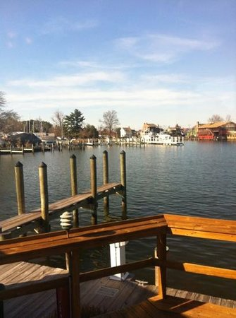 Town Dock Restaurant: view from our table