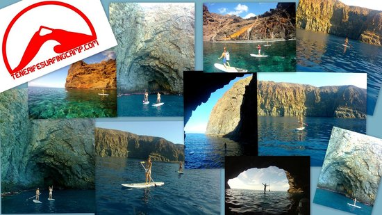 Tenerife Surfing Camp: Stand up paddle excursions and waves riding.
