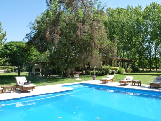 Algodon Wine Estates & Champions Club: some of the rooms are in the building behind the pool