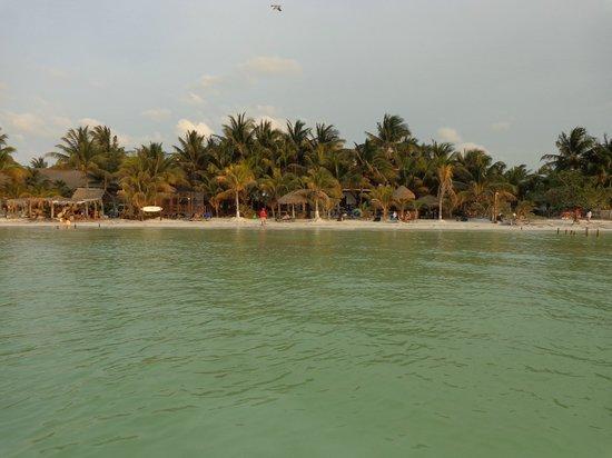 Beachfront Hotel La Palapa: vue depuis la mer