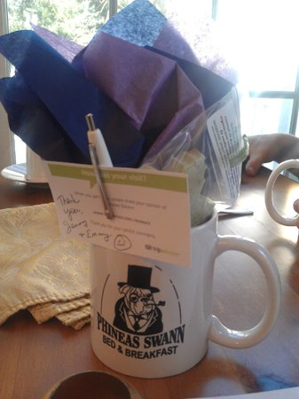 Phineas Swann Bed and Breakfast Inn: Our thank you package.