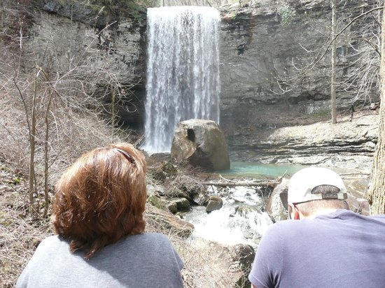 Cloudland Canyon State Park: This is the falls when you take a right turn at the fork. Much tougher walk