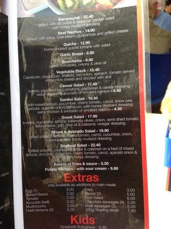 Montmartre by the Sea: menu page 3