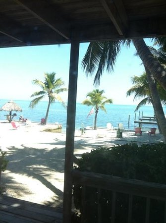Sands of Islamorada Hotel: view fro bed window