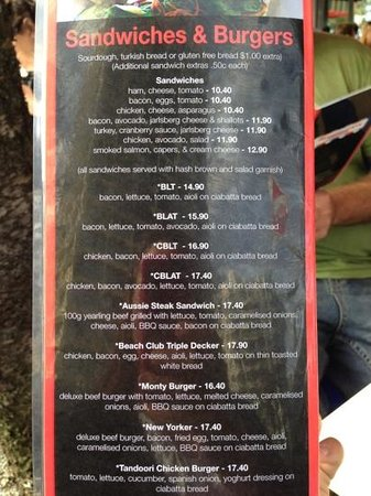 Montmartre by the Sea: menu page 4