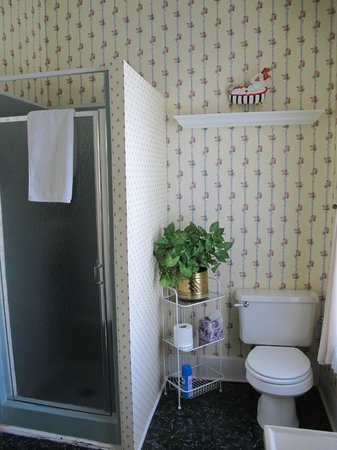 Eva's Escape at the Gardenia Inn : Blue bonnet bathroom
