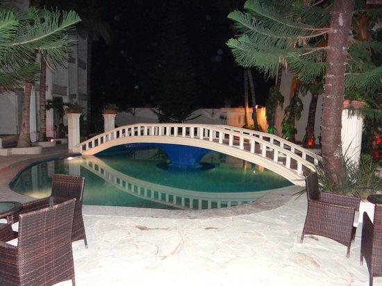 The MT Hotel : the pool bridge