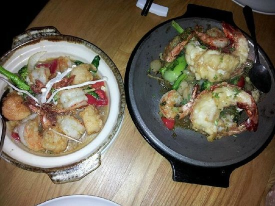 Chicago Cafe: Scallops and Prawns in Oyster Sauce / Lime Lobster and Prawns