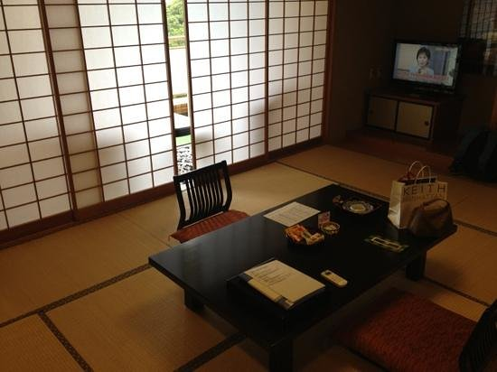 Kamogawa Hills Resort Hotel: Japanese room with tatami floor