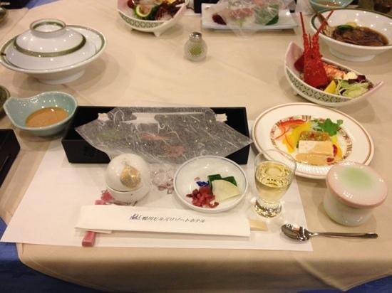Kamogawa Hills Resort Hotel: Japanese dinner @ Kamogawa Hills Resort