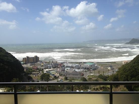 Kamogawa Hills Resort Hotel: View from my 9th floor room balcony @ Kamogawa Hills Resort