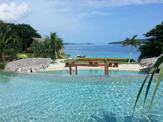 The Havannah, Vanuatu: View from a poolside villa