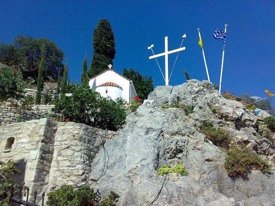 Moni Palianis: Подъем к монастырю