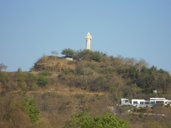 Casa Del Soul: We were told this statue of Christ is taller than the one in Rio. Luckily his back was to us the