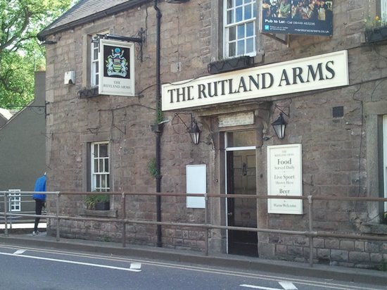 The Rutland Arms: Directly across from St. Annes Church in Old Bridge, Baslow