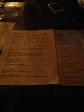 Le Mile Public House: menu