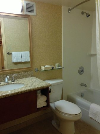 Airport Honolulu Hotel: spacious bathroom and has all basic toiletries, just bring toothpaste!